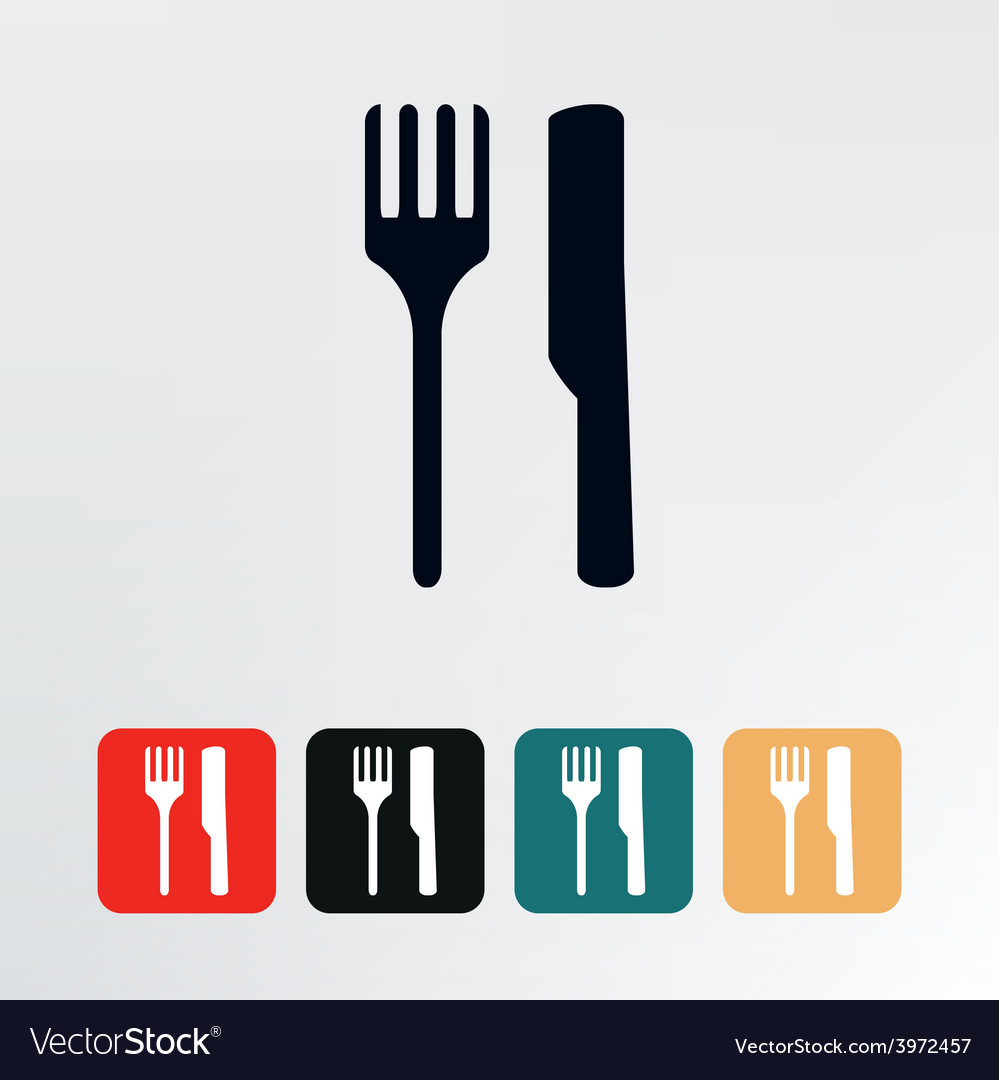 Fork and knife icon vector | Price: 1 Credit (USD $1)