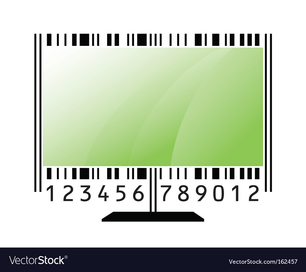 Monitor barcode vector | Price: 1 Credit (USD $1)