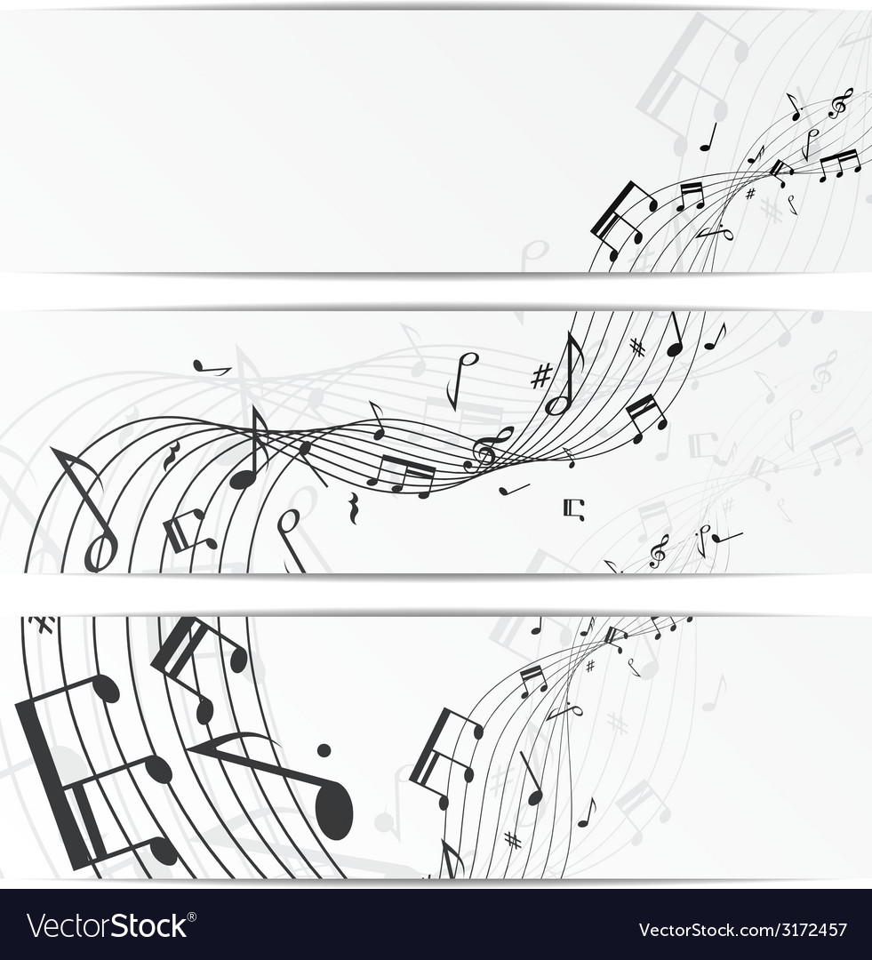 Music notes banners vector | Price: 1 Credit (USD $1)