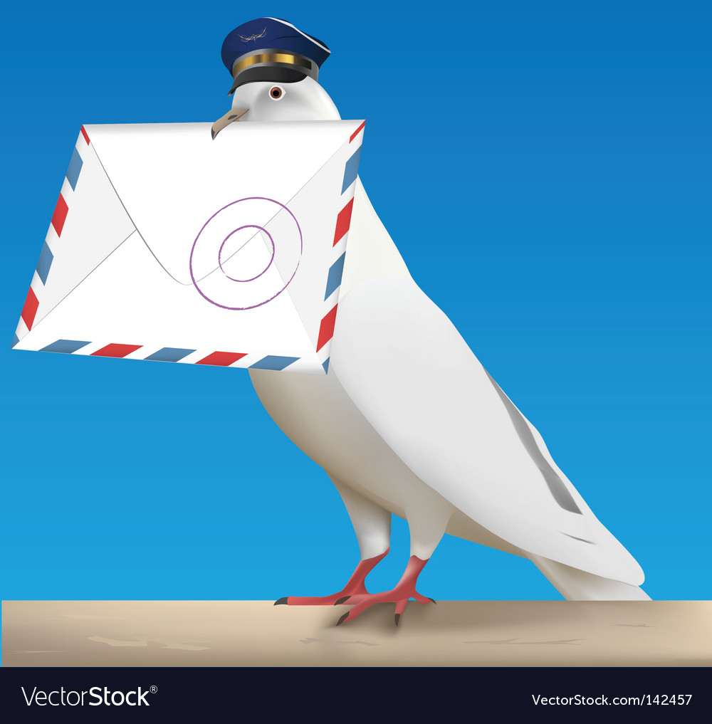 Pigeon carrier vector | Price: 3 Credit (USD $3)