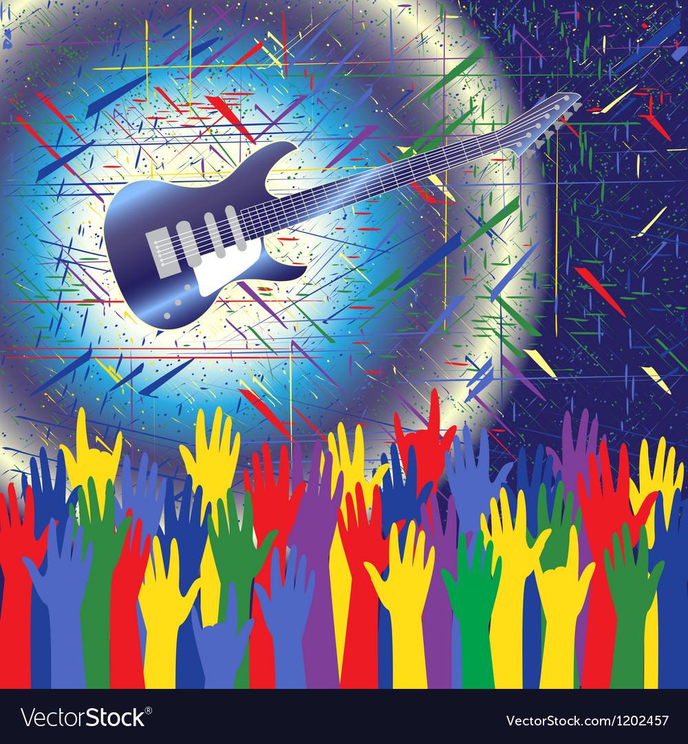 Rock concert background vector | Price: 1 Credit (USD $1)