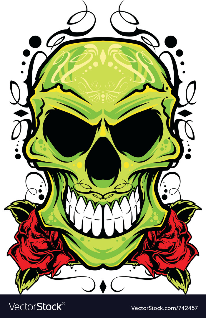 Skull ornament vector | Price: 3 Credit (USD $3)