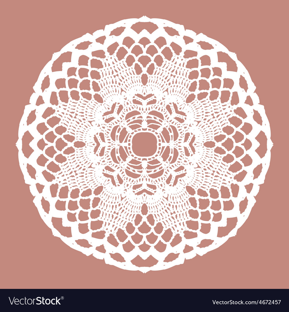 White crochet doily vector | Price: 1 Credit (USD $1)