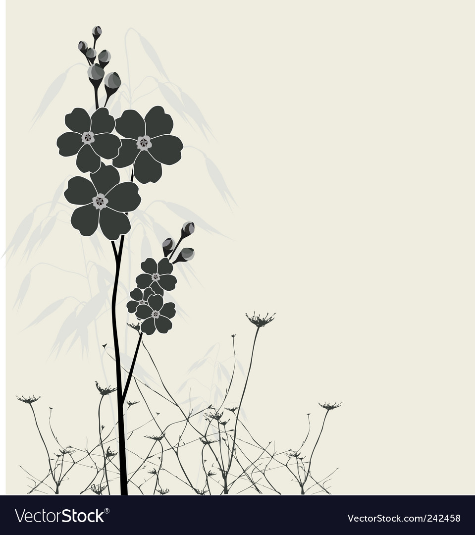 Beautiful forget-me-nots vector | Price: 1 Credit (USD $1)
