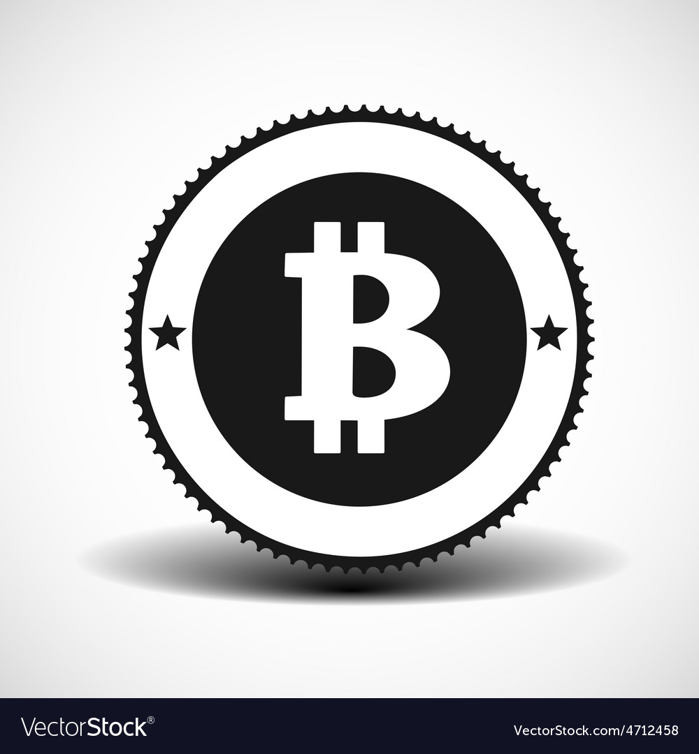 Bitcoin money icon with shadow on light background vector   Price: 1 Credit (USD $1)