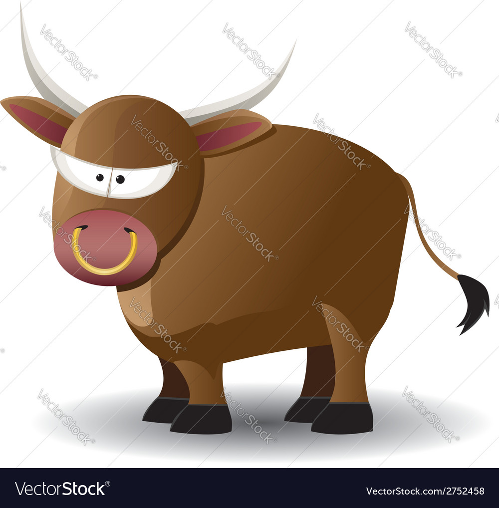 Cartoon bull vector | Price: 1 Credit (USD $1)