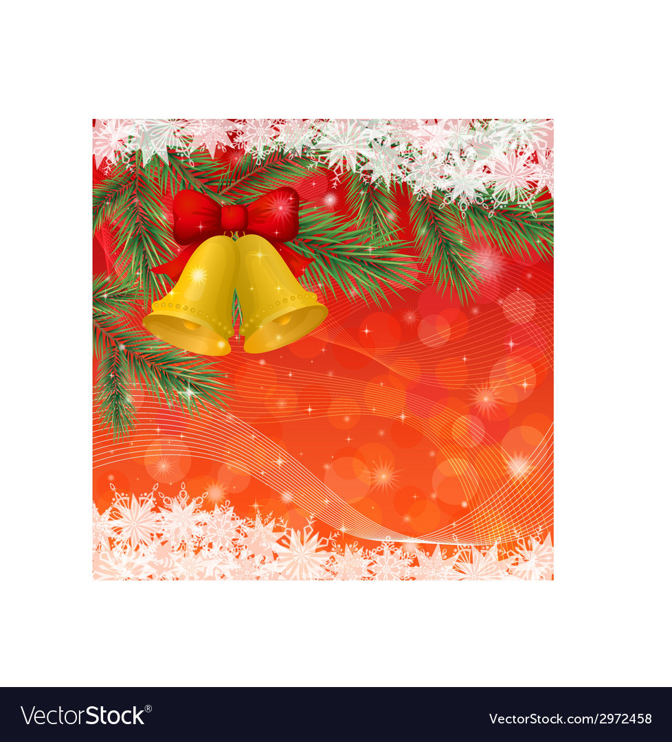 Christmas background with gold bells and vector | Price: 1 Credit (USD $1)