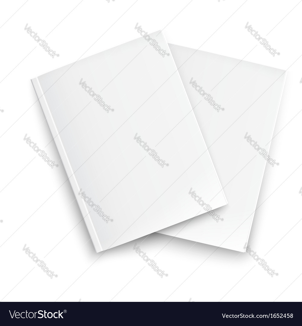Couple of blank closed magazines template vector | Price: 1 Credit (USD $1)