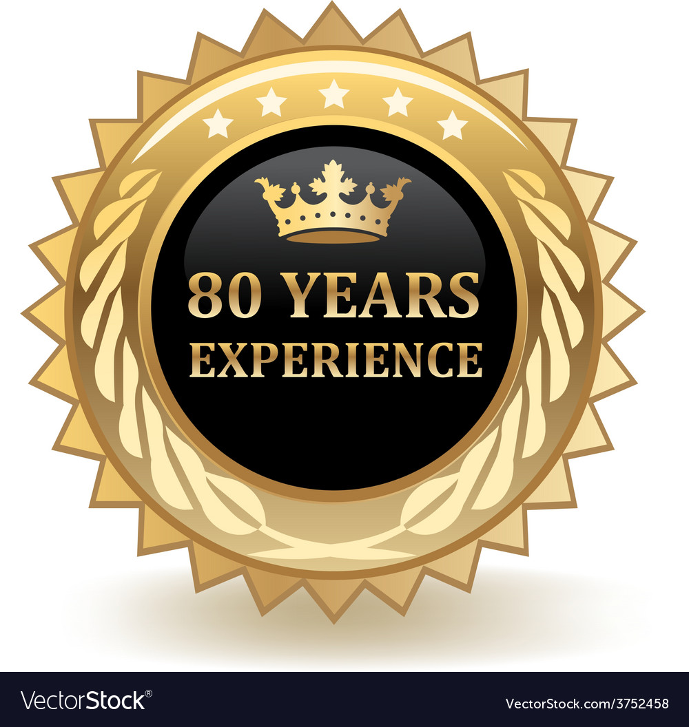 Eighty years experience badge vector | Price: 1 Credit (USD $1)