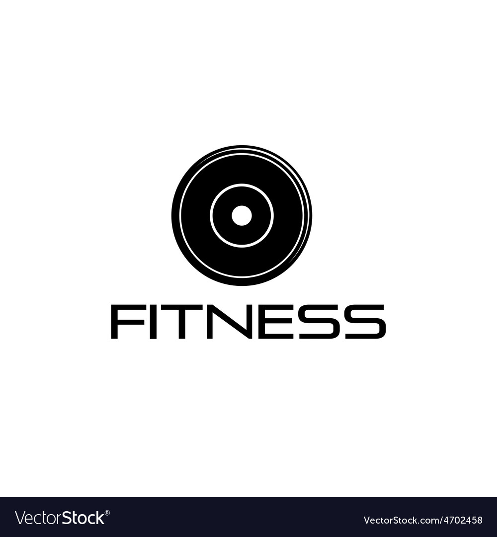 Fitness weight design template vector | Price: 1 Credit (USD $1)