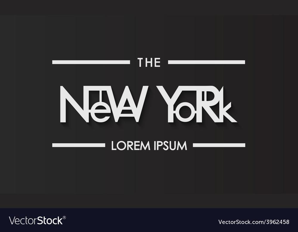 New york typography vector | Price: 1 Credit (USD $1)