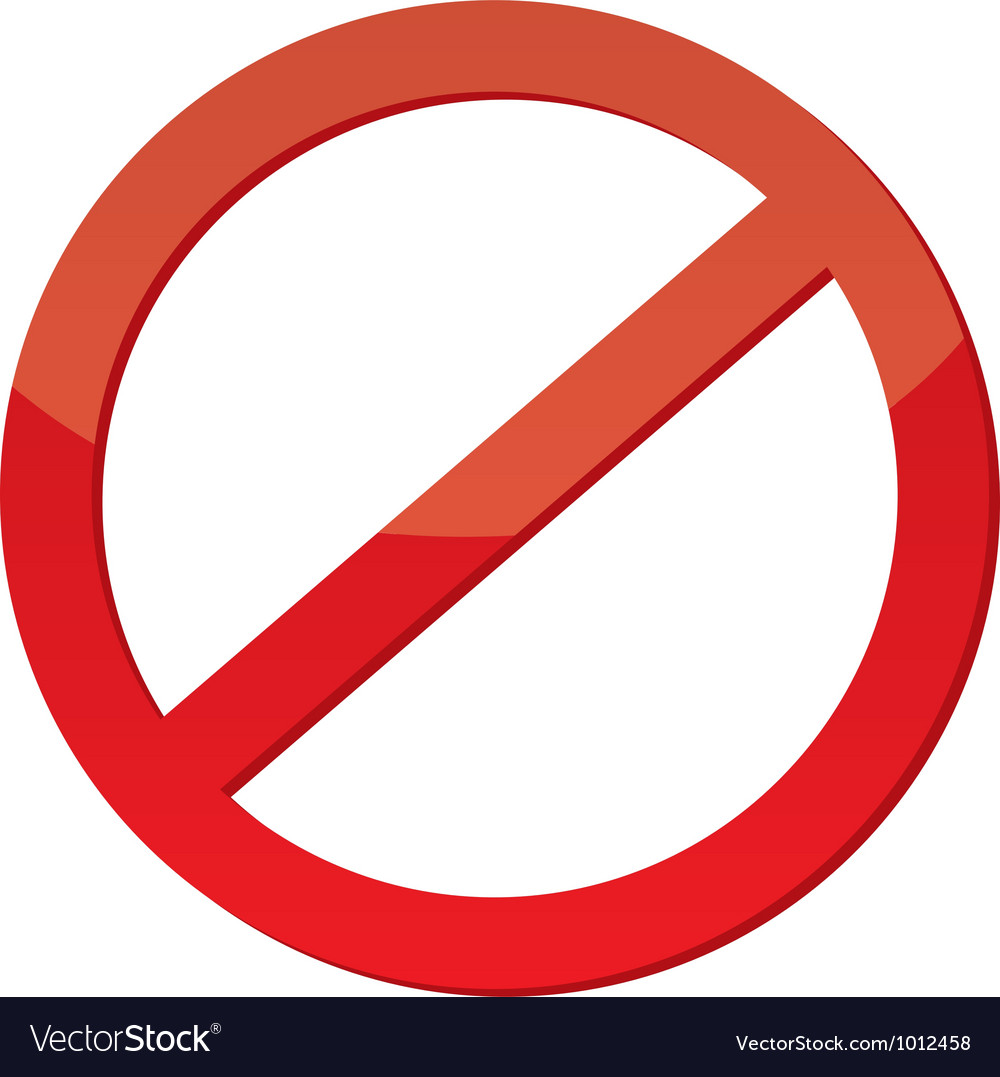 Not allowed sign vector | Price: 1 Credit (USD $1)