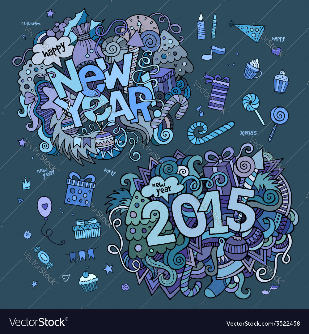 Set of 2015 and new year hand lettering and vector   Price: 1 Credit (USD $1)