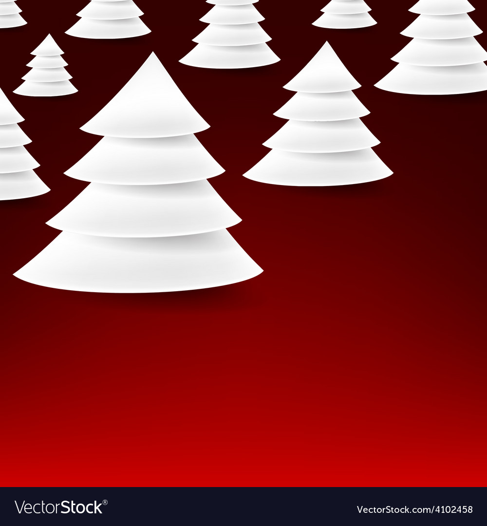 Set of paper christmas tree vector | Price: 1 Credit (USD $1)