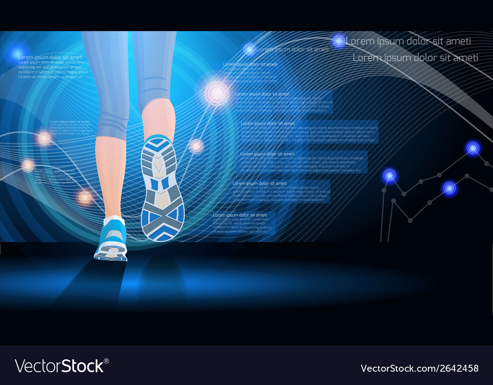 Technology sport background vector | Price: 1 Credit (USD $1)
