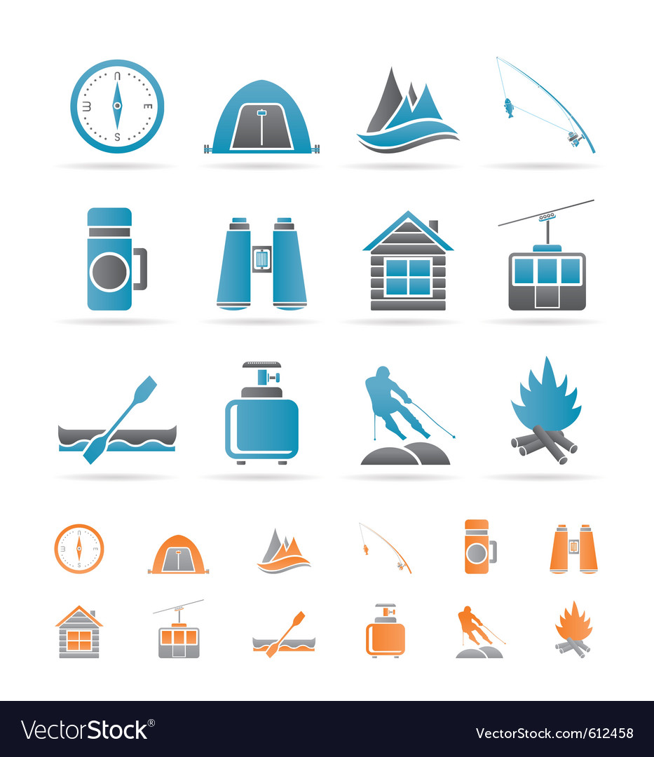 Travel and vacation objects vector | Price: 1 Credit (USD $1)