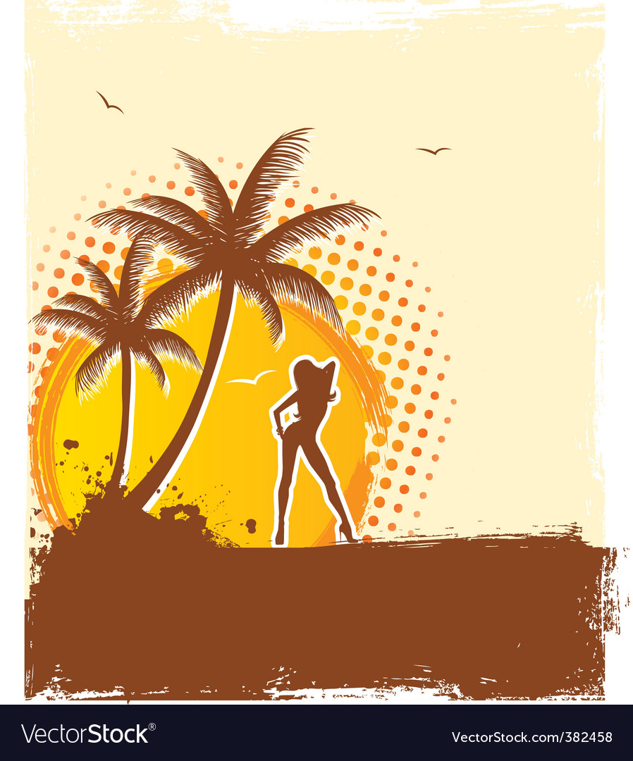 Tropic girl vector | Price: 1 Credit (USD $1)