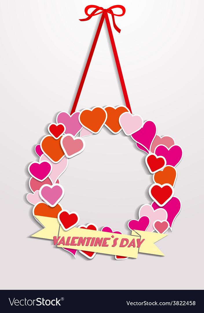 Valentine wreath vector   Price: 1 Credit (USD $1)