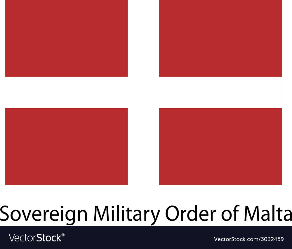 Flag the country sovereing military order of malta vector | Price: 1 Credit (USD $1)