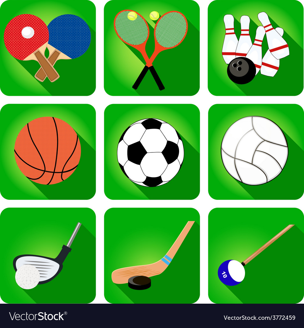 Icons sport tennis football basketball vector   Price: 1 Credit (USD $1)