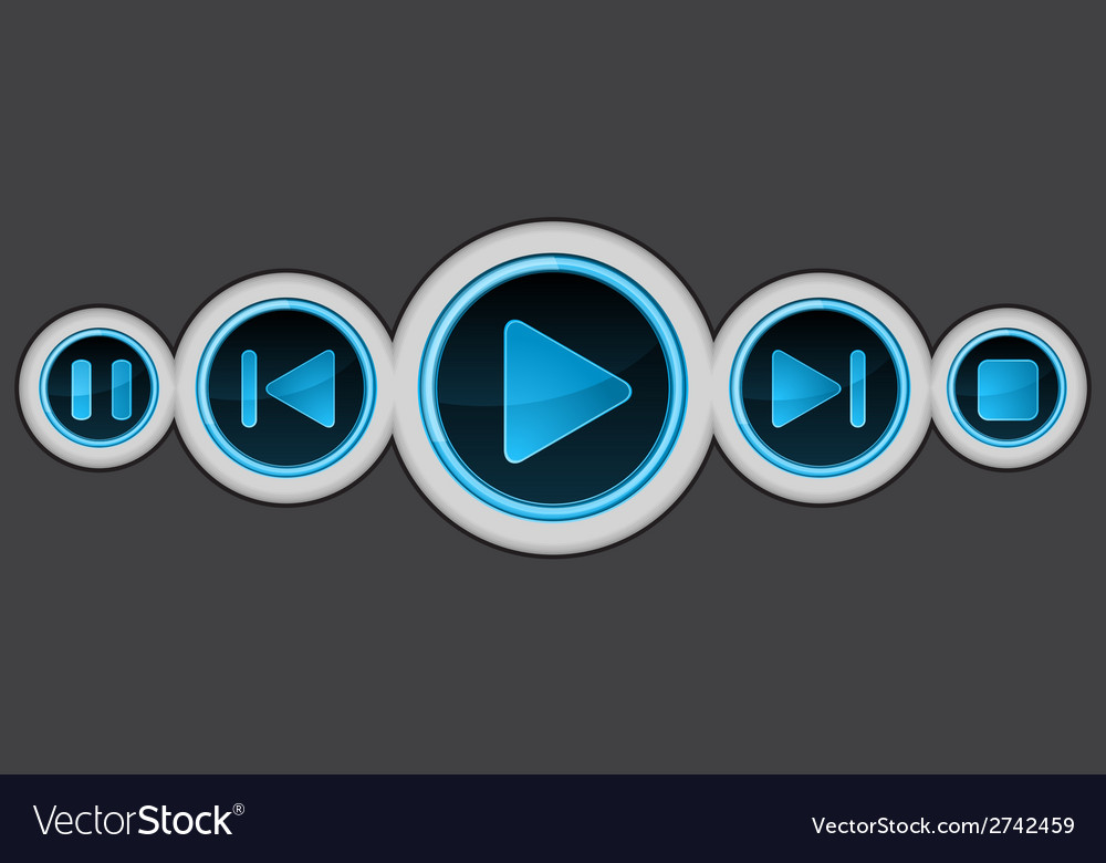 Media player vector | Price: 1 Credit (USD $1)