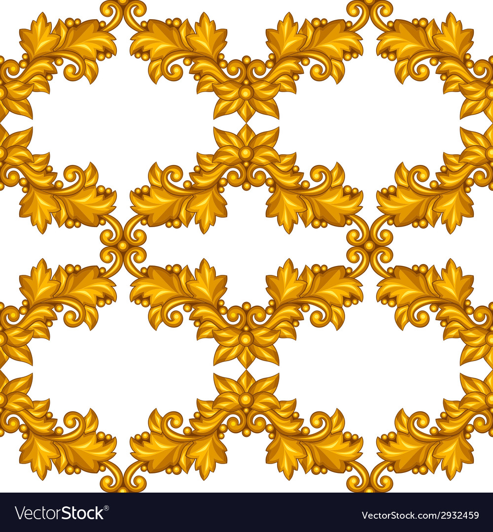 Seamless pattern with baroque ornamental floral vector   Price: 1 Credit (USD $1)