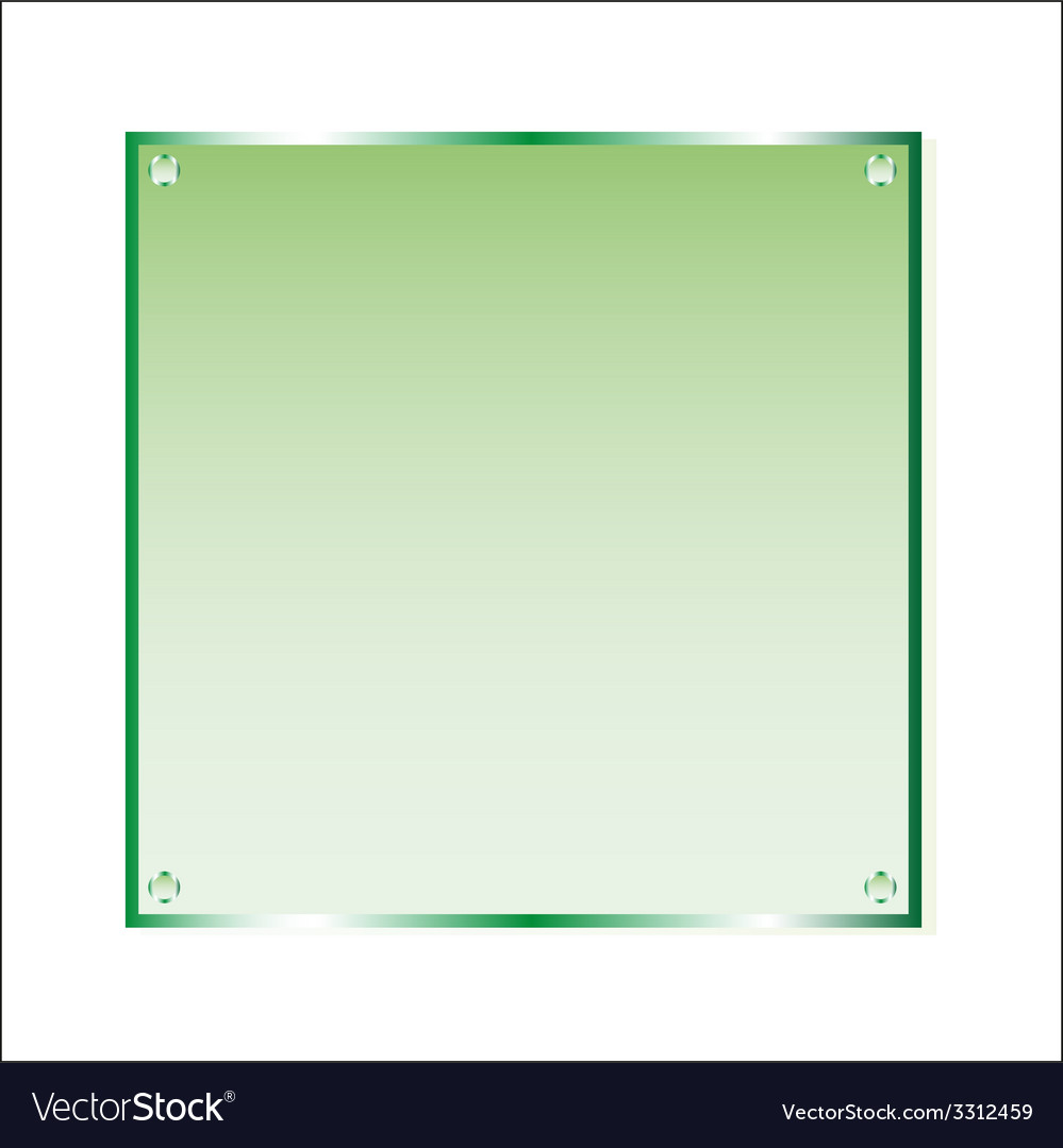 Sticker green glass isolated object vector | Price: 1 Credit (USD $1)