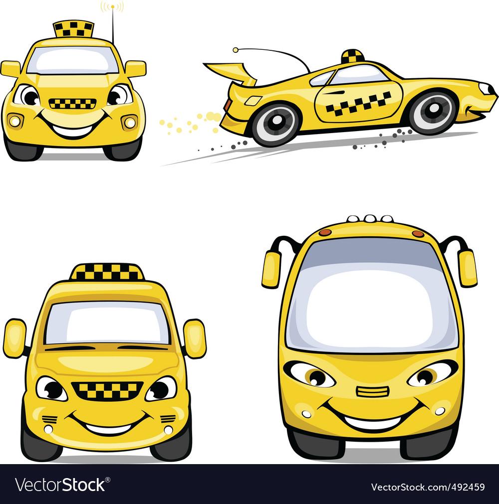 Taxi cartoons vector | Price: 1 Credit (USD $1)