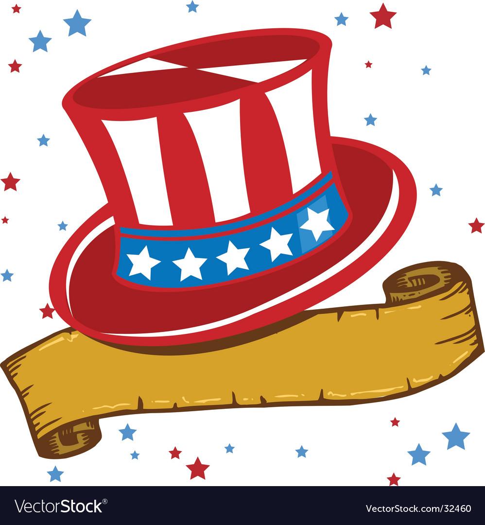 American patriot hat vector   Price: 1 Credit (USD $1)