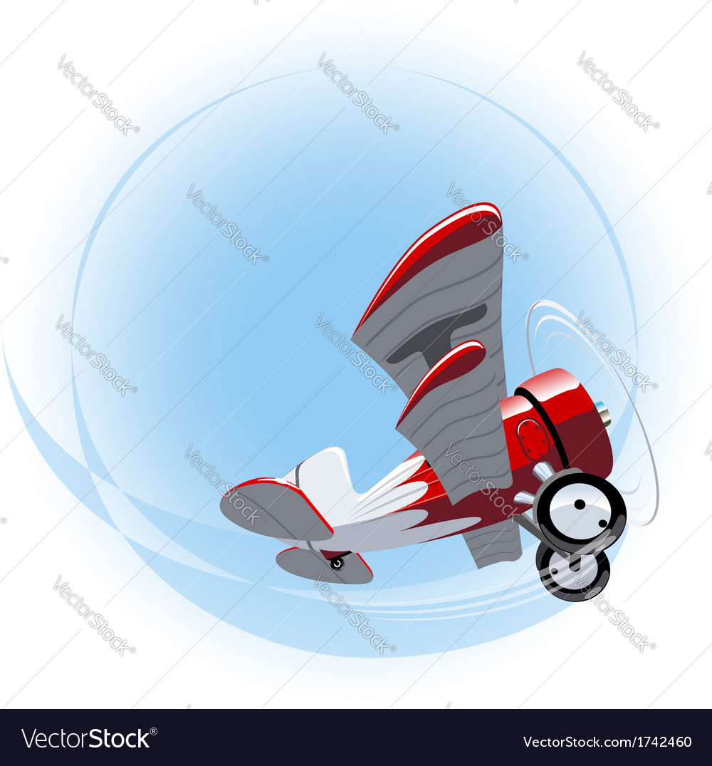 Cartoon biplane vector | Price: 3 Credit (USD $3)