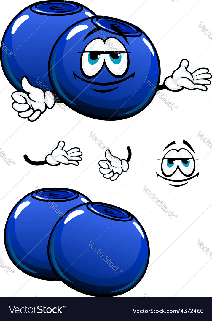 Cartoon smiling fresh blueberry characters vector   Price: 1 Credit (USD $1)