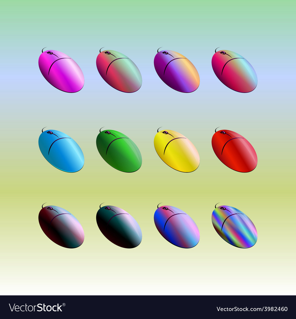 Colored mouse vector | Price: 1 Credit (USD $1)