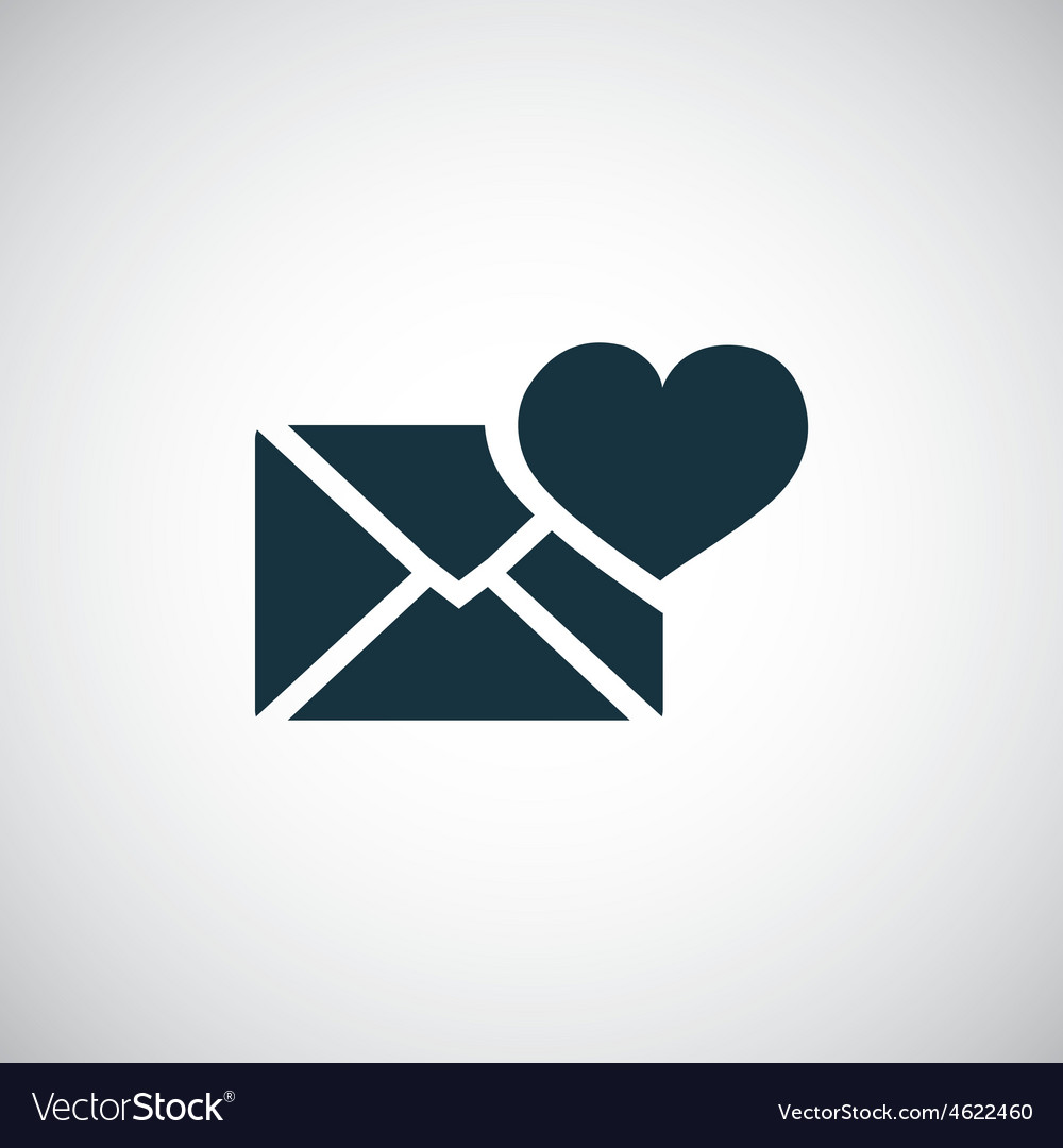 Heart mail icon vector | Price: 1 Credit (USD $1)