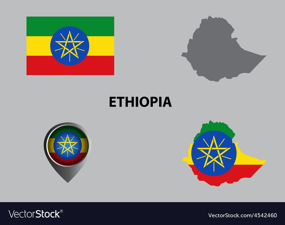 Map of ethiopia and symbol vector | Price: 1 Credit (USD $1)
