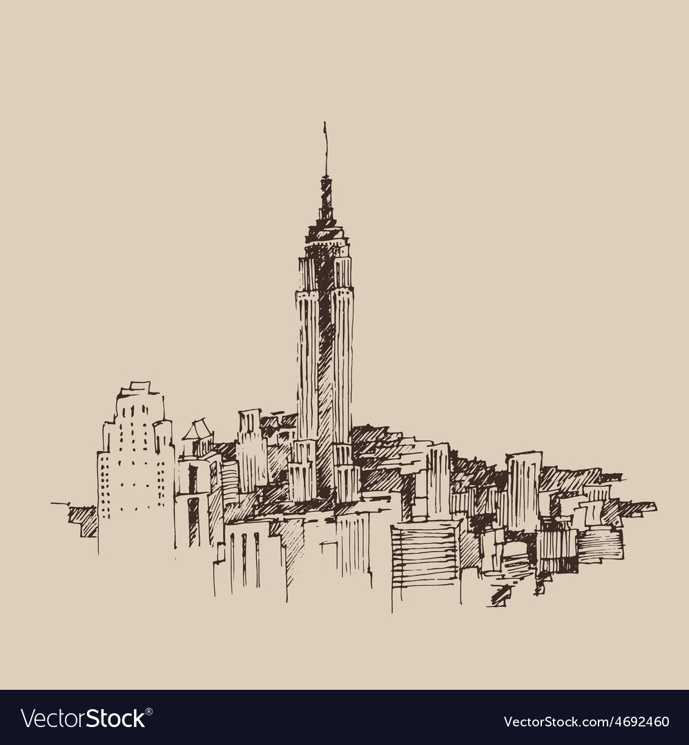 New york city engraving vector | Price: 1 Credit (USD $1)