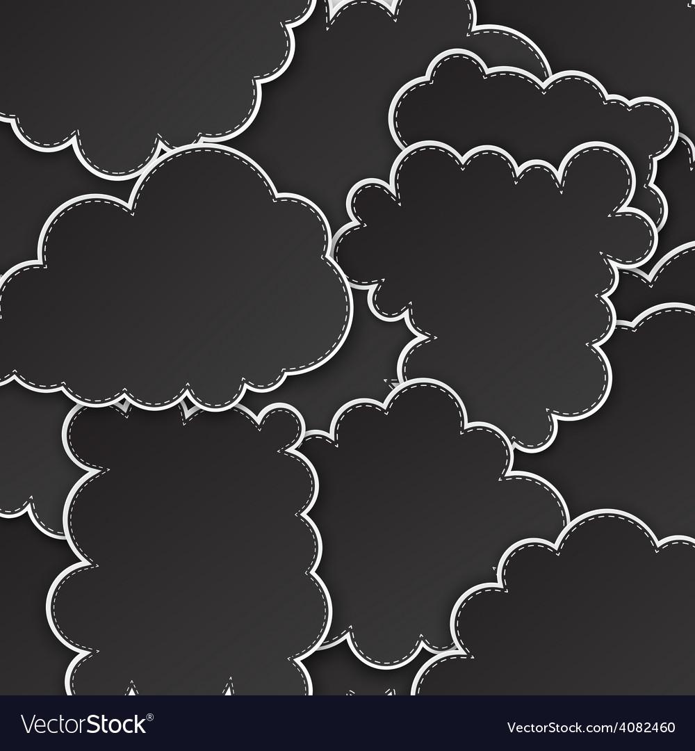 Paper black paper cloud background vector   Price: 1 Credit (USD $1)