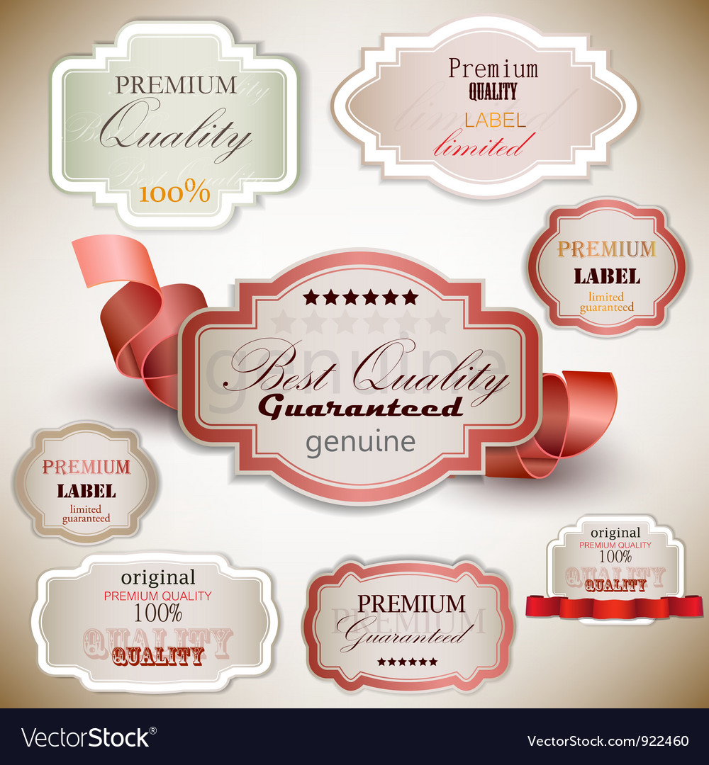 Superior quality satisfaction label vector | Price: 1 Credit (USD $1)