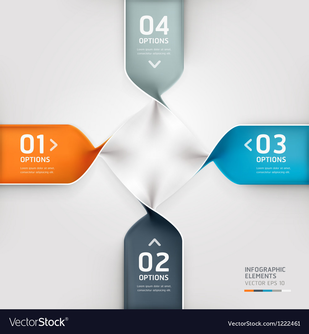 Abstract spiral infographics options banner vector | Price: 1 Credit (USD $1)