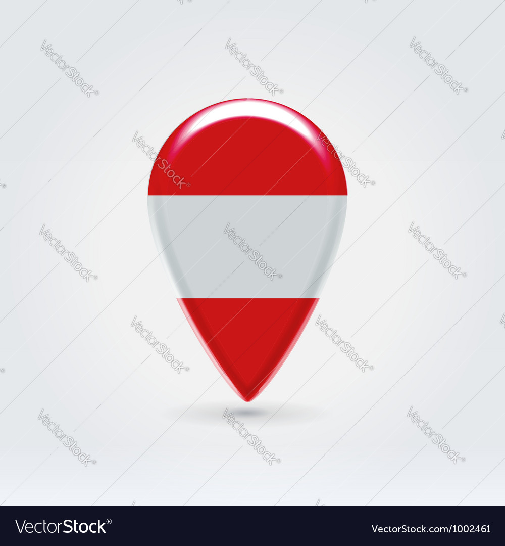 Austrian icon point for map vector | Price:  Credit (USD $)