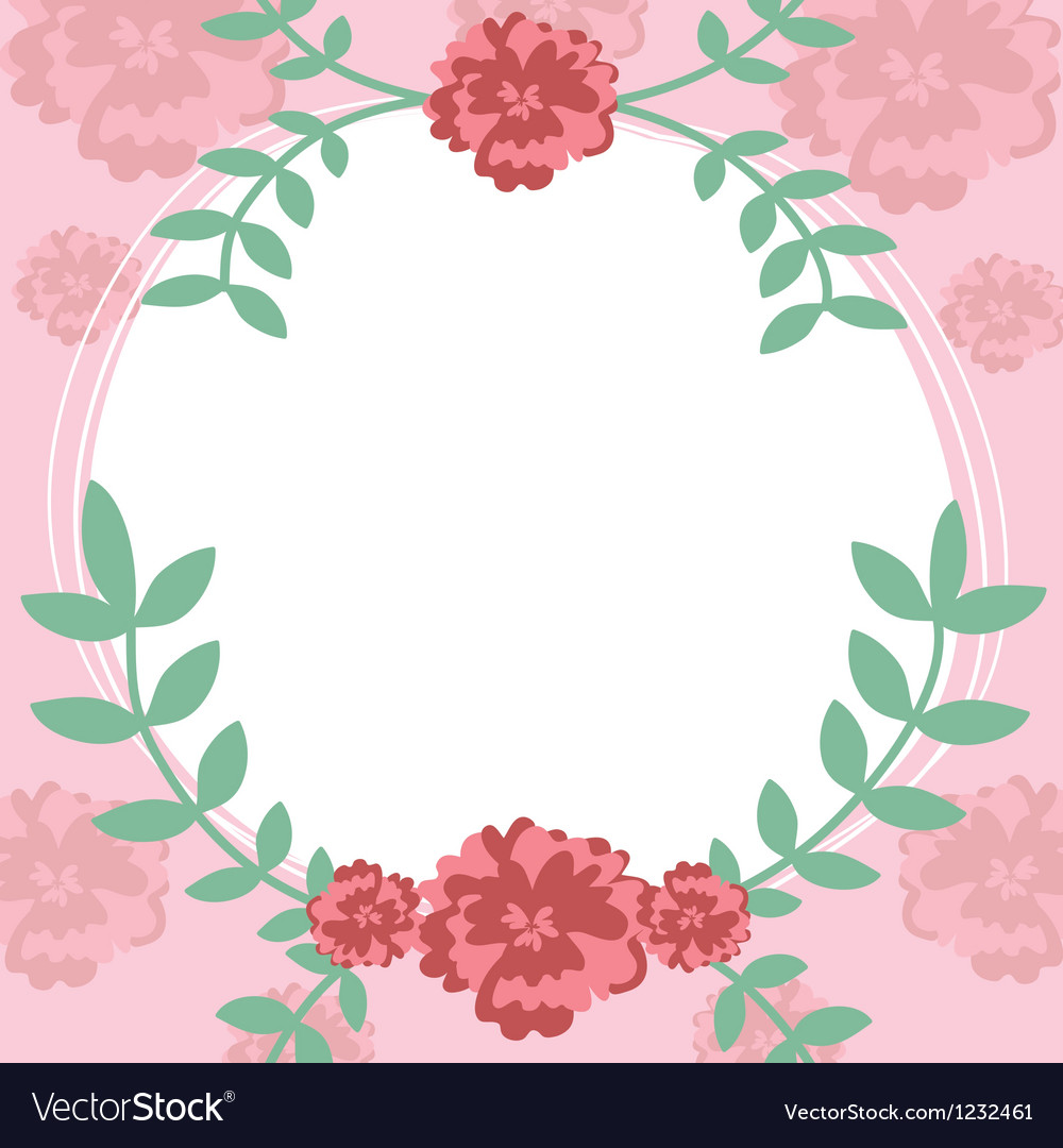 Flower and leaf frame background vector | Price: 1 Credit (USD $1)