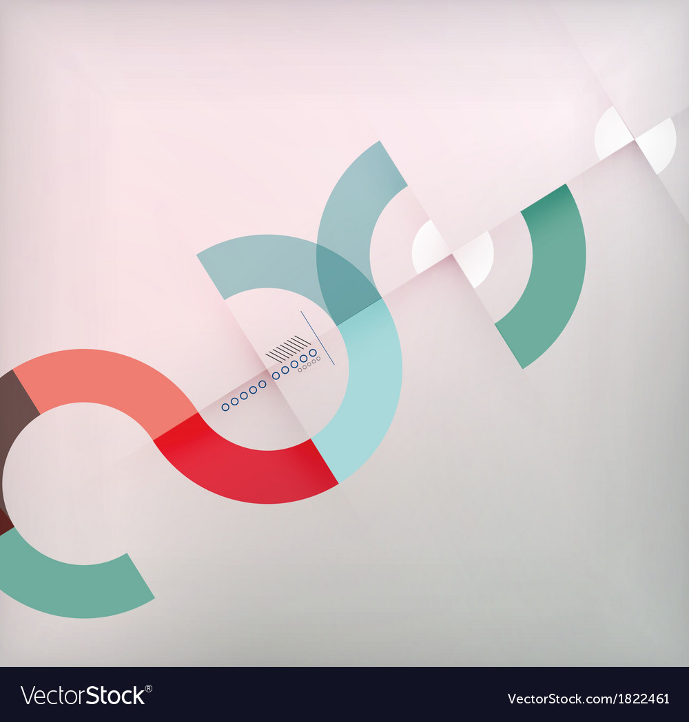 Geometric shapes circles modern background vector | Price: 1 Credit (USD $1)