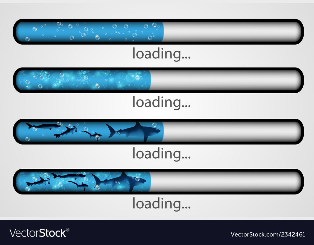 Loading bar water and fish vector | Price: 1 Credit (USD $1)
