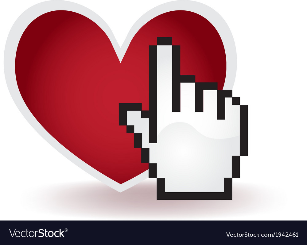 Love click vector | Price: 1 Credit (USD $1)