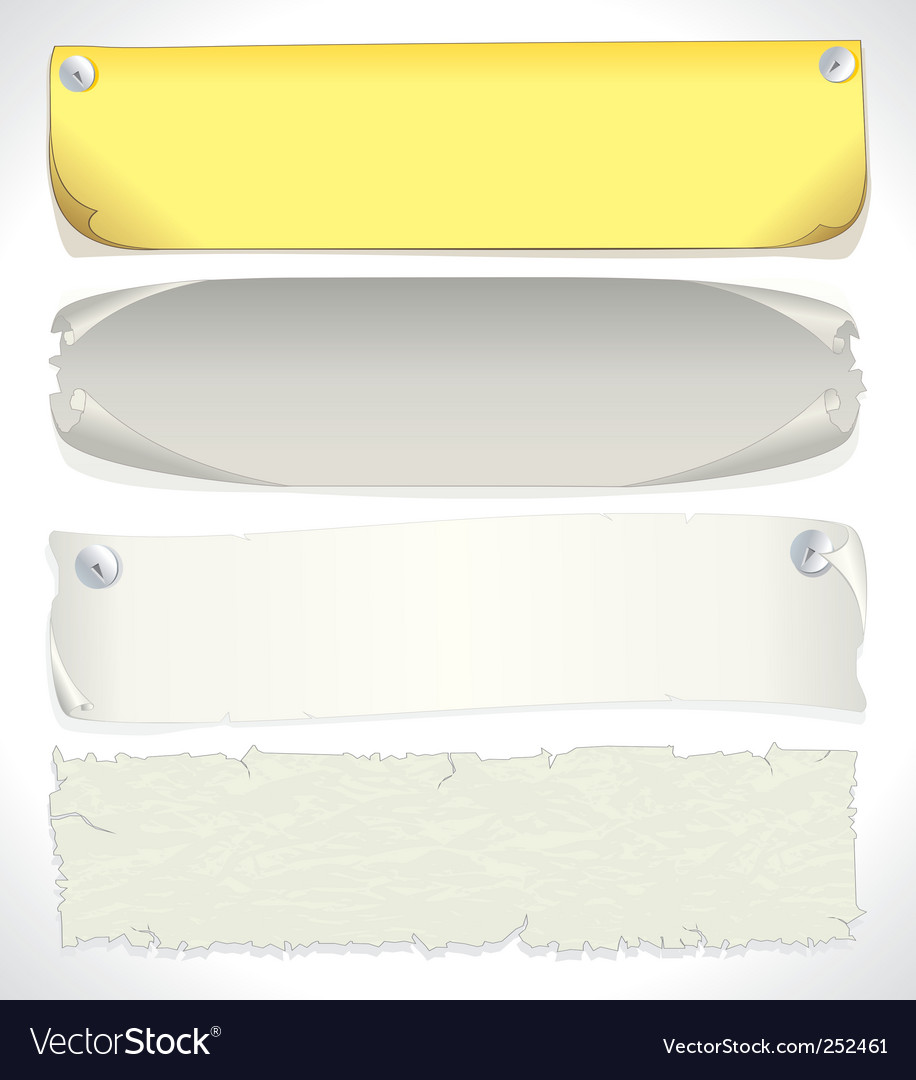 Paper banners vector   Price: 3 Credit (USD $3)