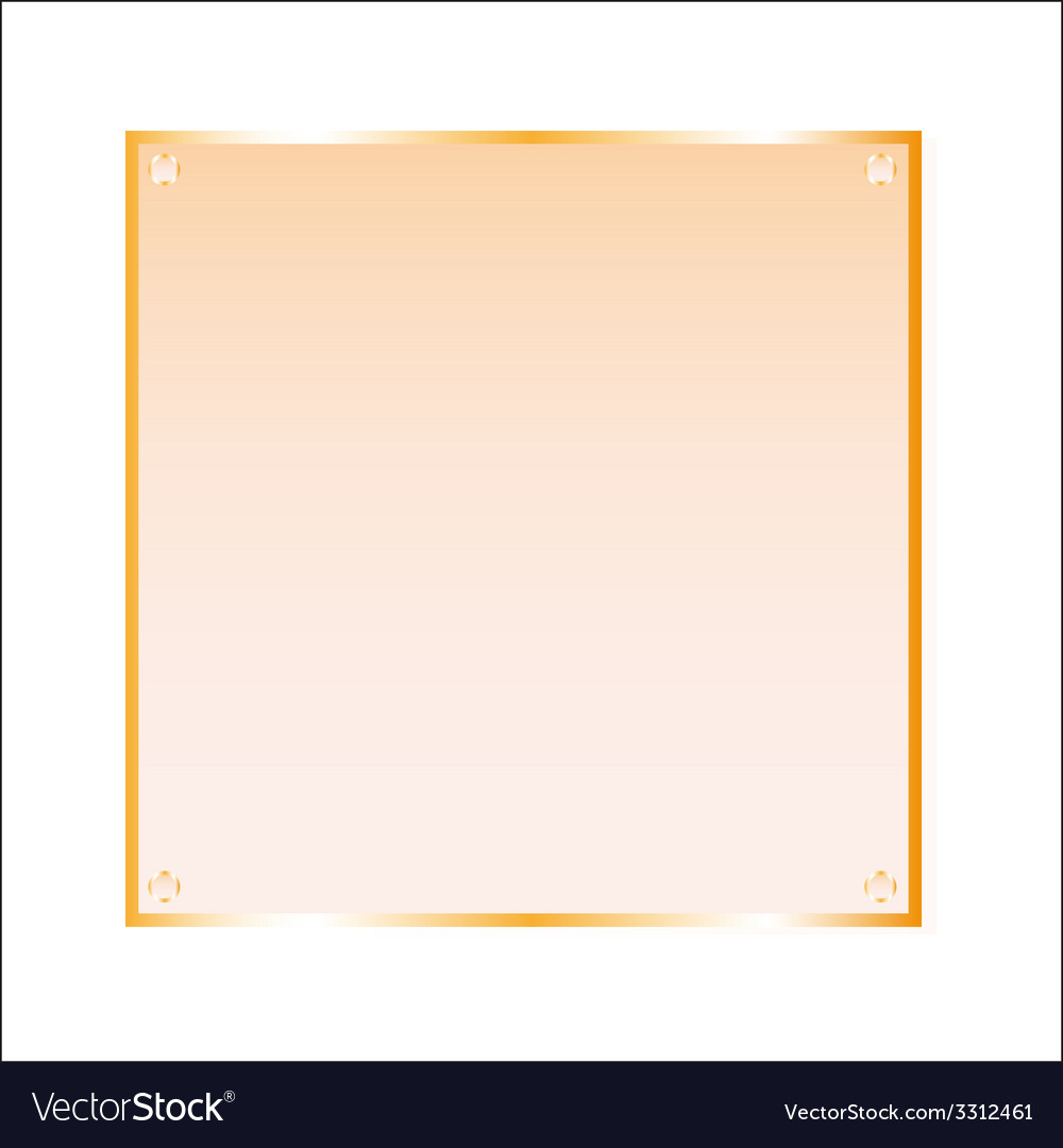 Sticker orange glass isolated object vector | Price: 1 Credit (USD $1)