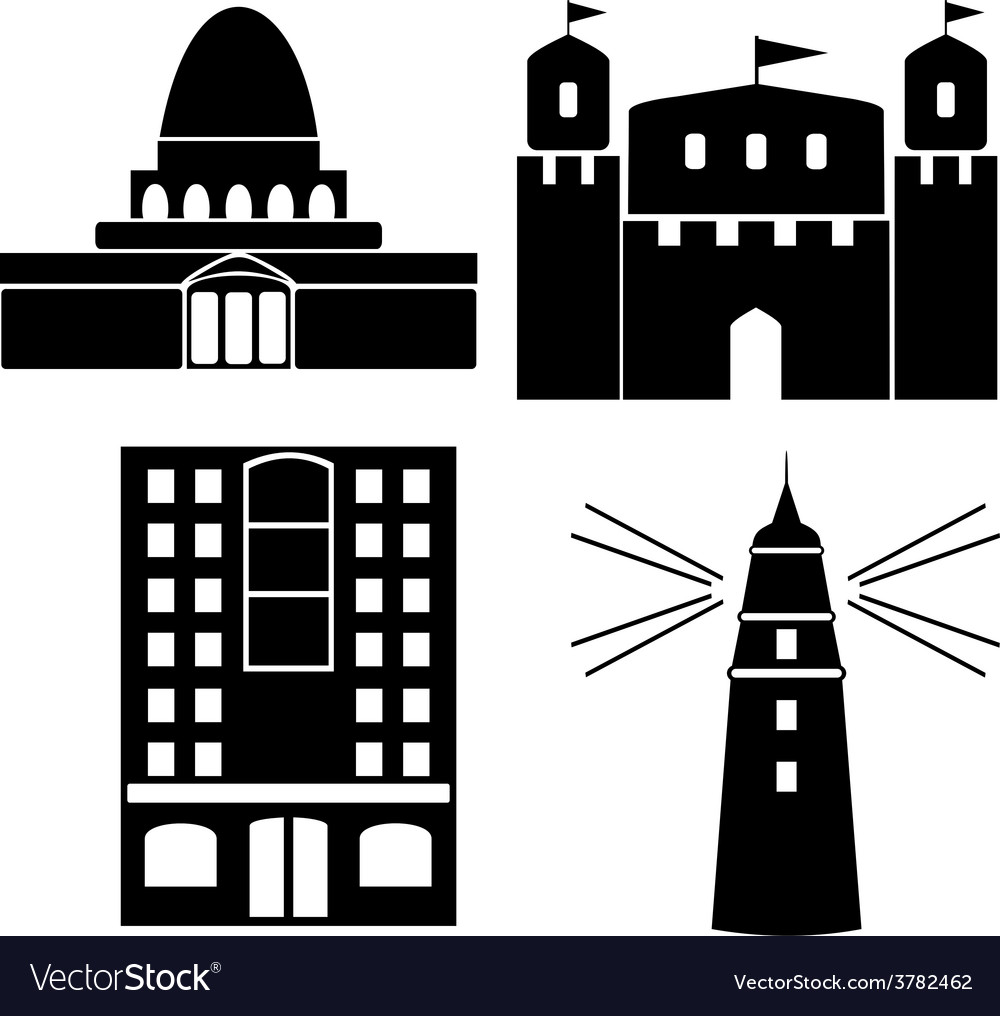 Building 4 vector | Price: 1 Credit (USD $1)