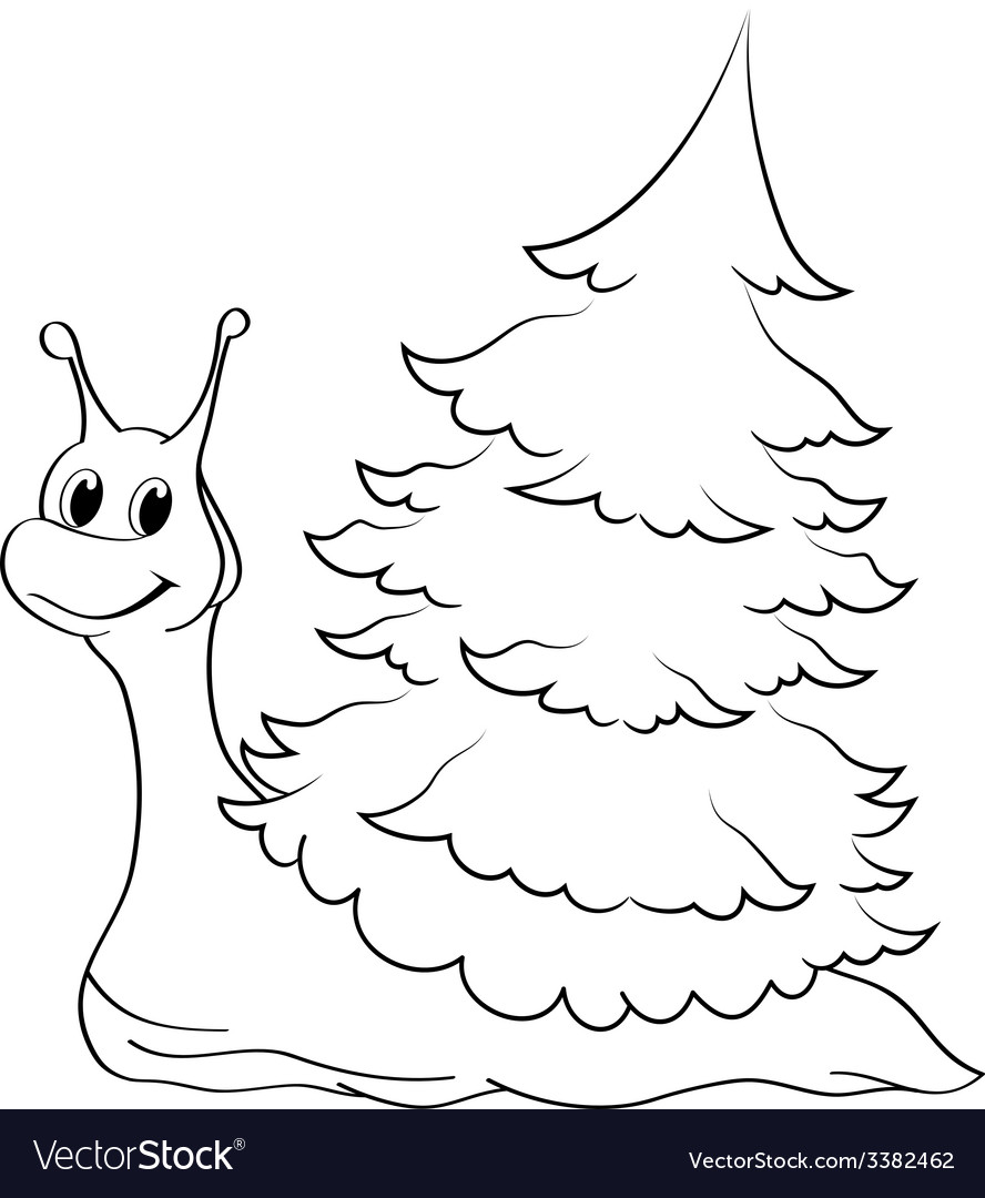 Cartoon snail vector | Price: 1 Credit (USD $1)