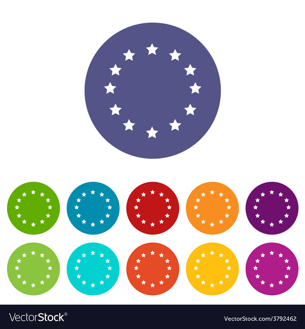European union flat icon vector | Price: 1 Credit (USD $1)