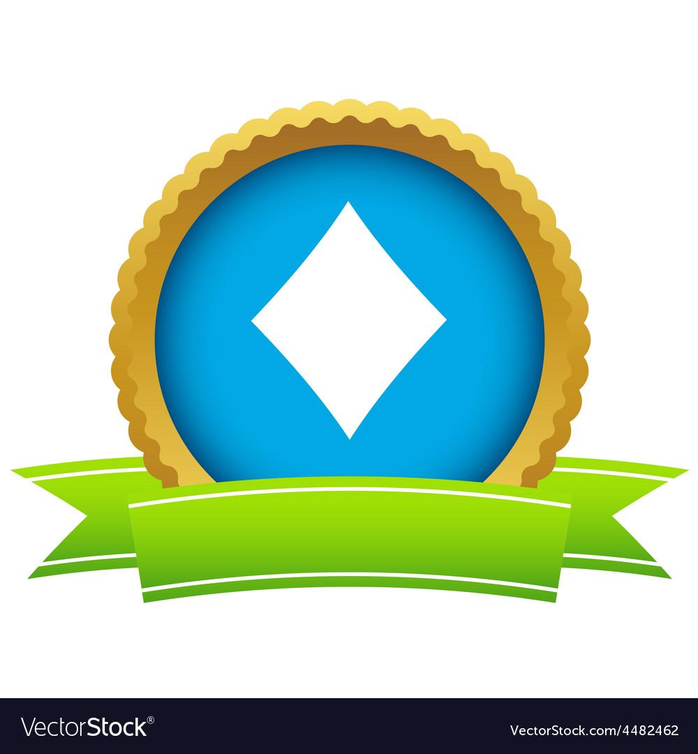 Gold diamonds card logo vector | Price: 1 Credit (USD $1)
