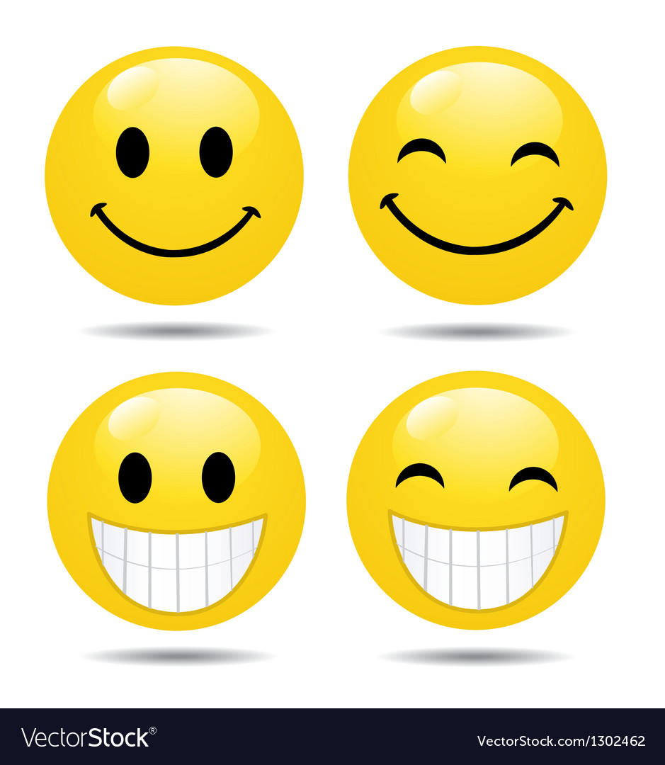 Happy face collection vector | Price: 1 Credit (USD $1)